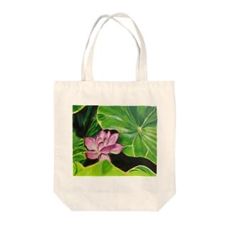 蓮の花〜クリシュナ神 Tote bags