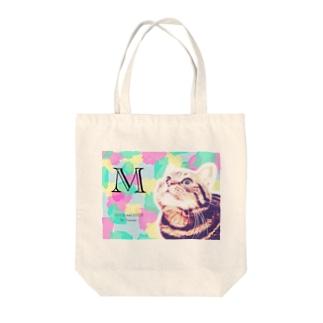 ヤマにゃん春色迷彩M Tote bags