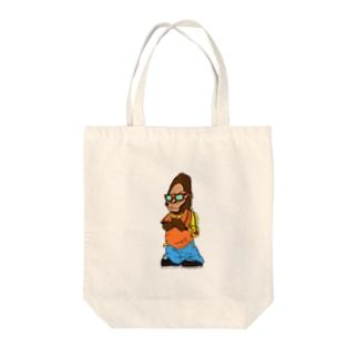 オシャレゴリラ Tote bags