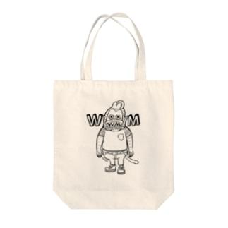 ハードワイルドモンキー Tote bags