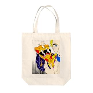 ピッツァスティーブとプロシュート Tote bags