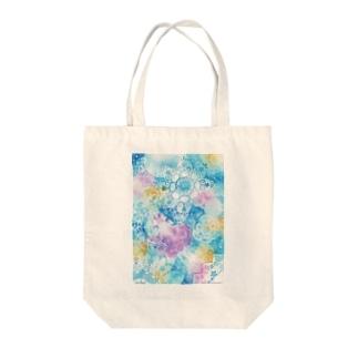 青い花 Tote bags