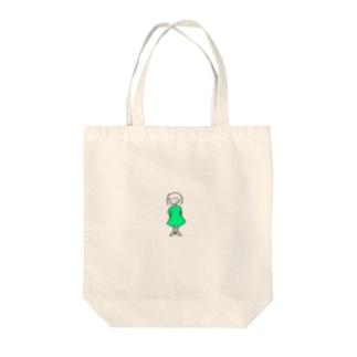 ワンピースの子 Tote bags
