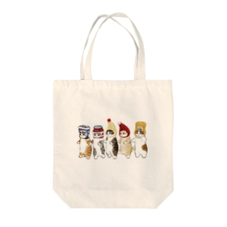 かぶりもの猫 Tote bags