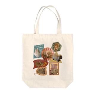 うさステッカー風 Tote bags