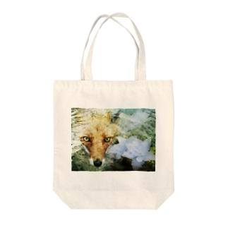 狐と紫陽花 Tote Bag