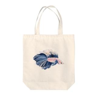 濃青のベタ Tote bags