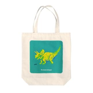 おしゃれなトリケラトプス Tote bags