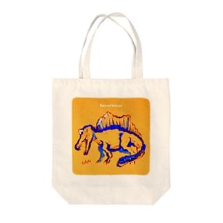 しょんぼり新スピノサウルス Tote bags