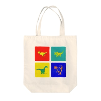Windowsっぽい色の恐竜デザイン Tote bags