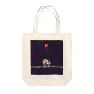銀河鉄道 Tote bags