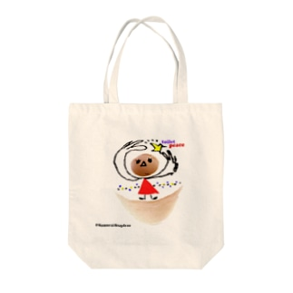toilet peace Tote bags