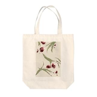 赤色チューリップ Tote bags