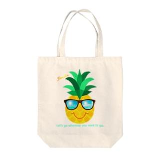 サングラス×パイナップル Tote Bag
