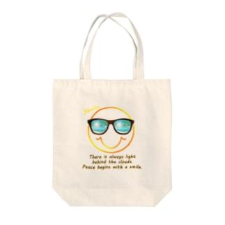 サングラス×スマイル🕶(オレンジ) Tote bags