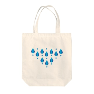水滴模様 Tote bags