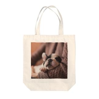 おやすみワンコTo-To Tote bags