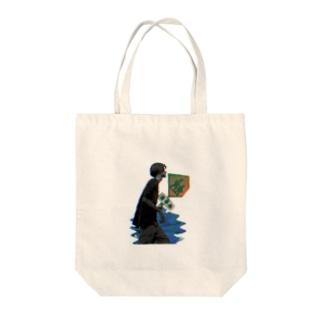 コうタ魔髗くん Tote bags