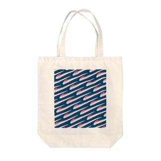 リュウグウノツカイパターン Tote bags