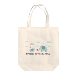 象の親子【あかえほ公式】 Tote bags