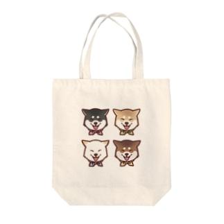 スマイル柴犬(スクエア) Tote bags