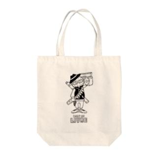 ミラーボールくん Tote bags