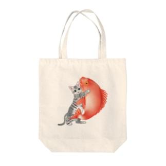 恋猫(姫ニャン) Tote bags