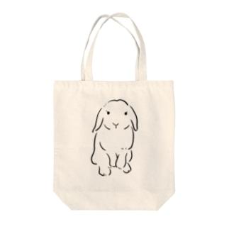 うさぎ ロップ Tote bags