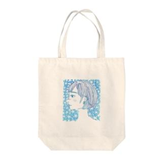 朝顔の女の子 Tote bags