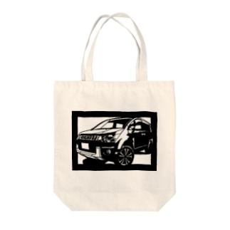 MITSUBISHIデリカ切り絵デザイン Tote bags