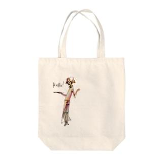 いがらしさん Tote bags