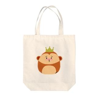 モンキーキング Tote bags