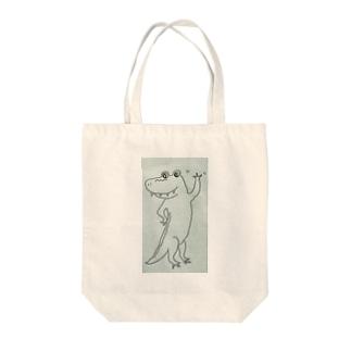 Alligator ありがとう Tote bags