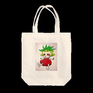 明白のいちごちゃん Tote bags