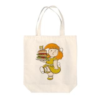バーガーショップ Tote bags