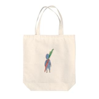 にんじんソードで戦う小人 Tote bags