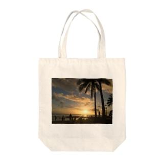 ハワイ夕景写真 Tote bags