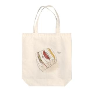 サンドイッチのあいだ Tote bags