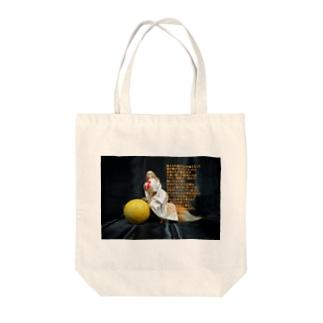 詩:キツネとチーズ Poetory: Vixen and cheese Tote Bag