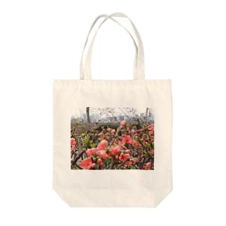 ボケの花と風景 Tote bags