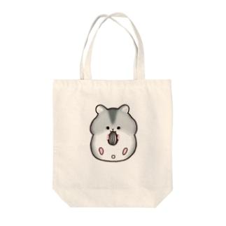 仰向けでも食べちゃうジャンガリアンハムスター(ブルーサファイア) Tote bags
