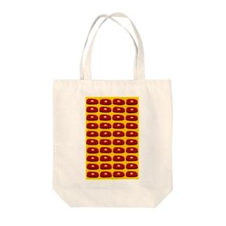 ステーキ(黄) Tote bags
