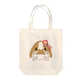 おしゃれロップイヤーのポポちゃん髪飾り Tote bags
