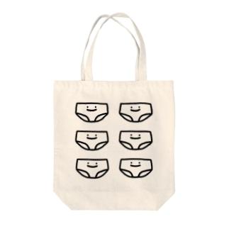 ゆけゆけ ぱんつ Tote bags
