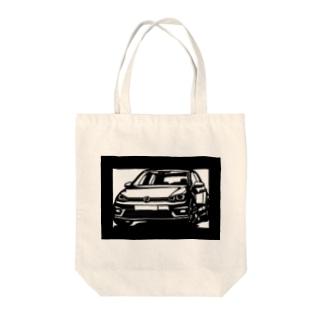 Volkswagen Golf切り絵デザイン Tote bags