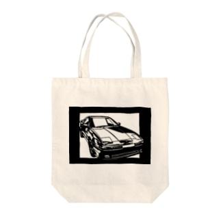 TOYOTA スープラJZA70切り絵デザイン1 Tote bags