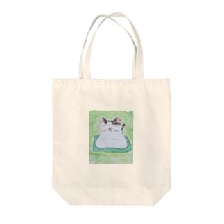 餅猫シダー お茶の時間 Tote bags