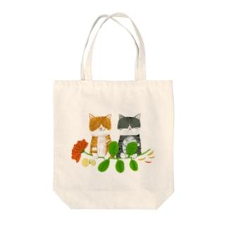 ねこねこ Tote bags