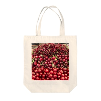 市場のチェリー Tote bags