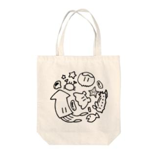 ごっちゃり海洋生物 Tote Bag
